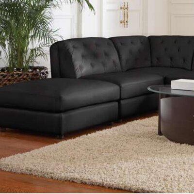Morris Storage Ottoman Upholstery: Black