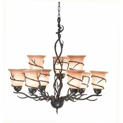 Peony 11-Light Shaded Chandelier