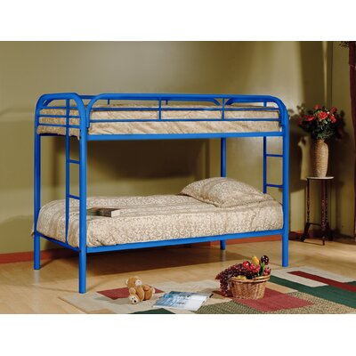 Tanner Twin over Twin Bunk Bed Color: Blue