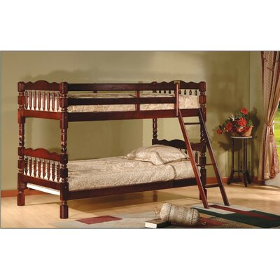 Alexandro Twin Bunk Bed Finish: Cherry