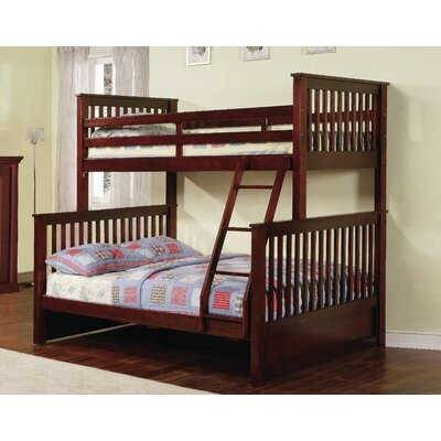Jamarcus Twin over Full Bunk Bed with Storage Finish: Walnut