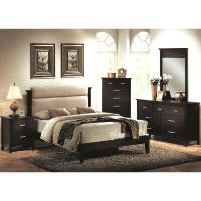 Ramey Espresso Panel Customizable Bedroom Set