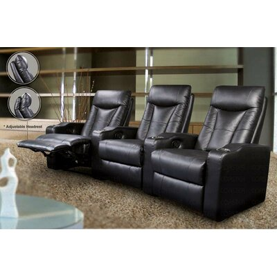 St. Helena Home Theater Seating (Row of 3) Upholstery: Black