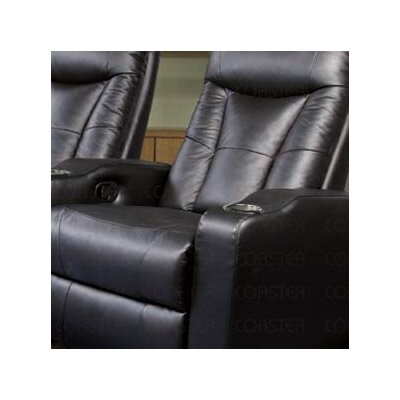 St. Helena Home Theater Seating (Row of 4) Upholstery: Black
