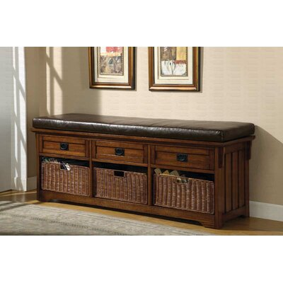 Coast to Coast Imports Wooden Storage Bench | Wayfair