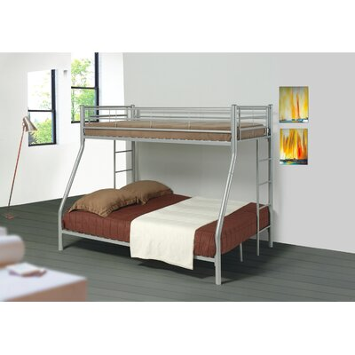 Elgin Twin over Full Bunk Bed Finish: Silver
