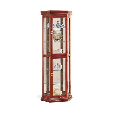 Cheap Wildon Home Battle Ground 71″ Curio Cabinet with Mirror in Cherry (CST3688)