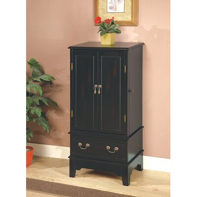 "Wildon Home Wapato 38"" Jewelry Armoire in Black at Sears.com"