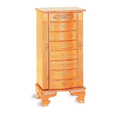"Wildon Home Washougal Deluxe 37.5"" Jewelry Armoire in Light Oak at Sears.com"