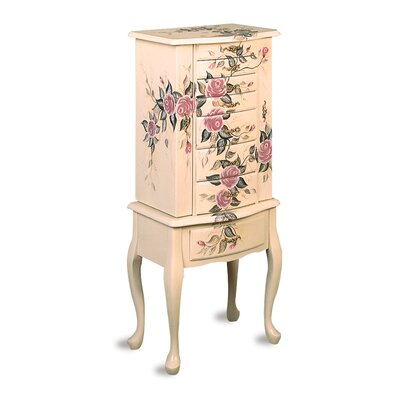 Wildon Home Westport Hand Painted Roses Floral Jewelry Armoire at Sears.com