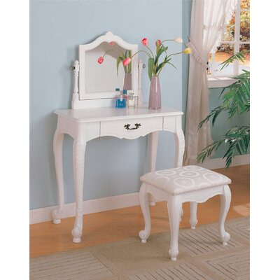 Wildon Home Winlock Vanity Set with Stool in White at Sears.com