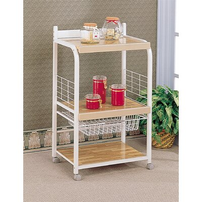 Cheap Wildon Home Hayden 40.25″ Utility Stand in Laminated White (CST3919)
