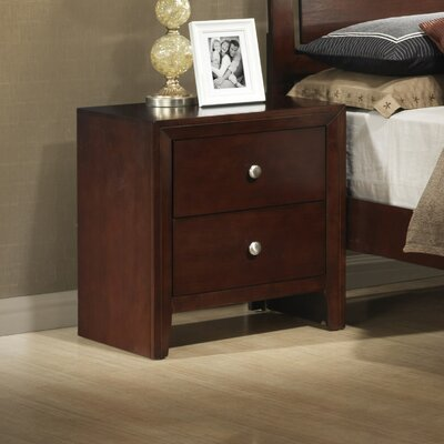 Wildon Home Carolina 2 Drawer Nightstand