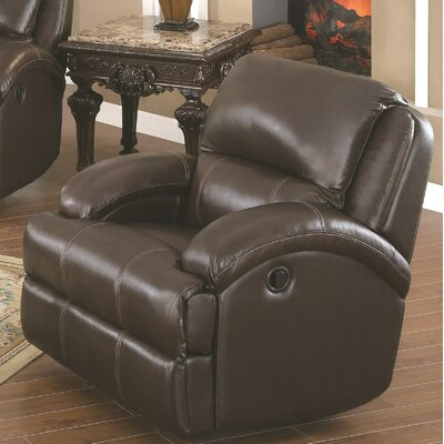 Elwin Leather Manual Rocker Recliner