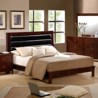 Sarah Upholstered Panel Bed Size: King