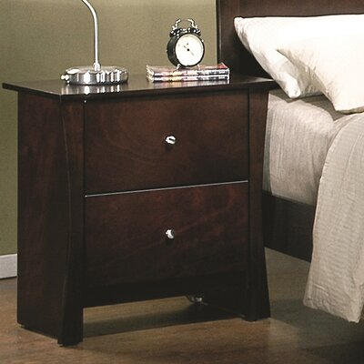 Krantz 2 Drawer Nightstand