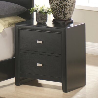 Wildon Home Kaspa 2 Drawer Nightstand
