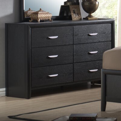 Seger 6 Drawer Double Dresser with Mirror