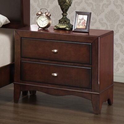 Wildon Home Landsberg 2 Drawer Nightstand