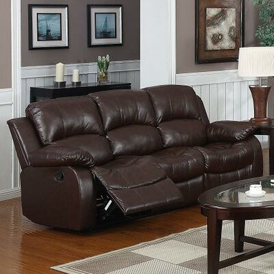 Kirwin Reclining Sofa Upholstery: Brown