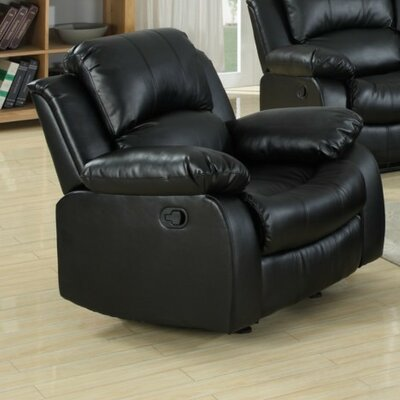 Corvin Manual Recliner Upholstery: Black