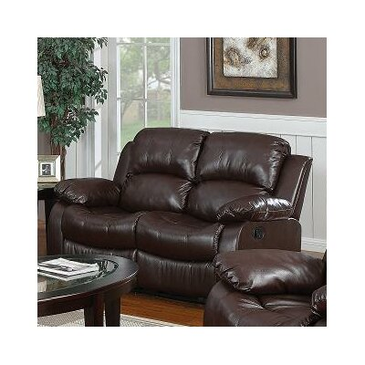 Kirwin Reclining Loveseat Upholstery: Brown