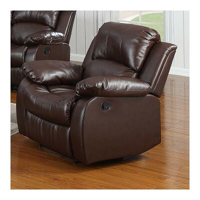 Corvin Manual Recliner Upholstery: Brown