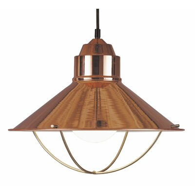 Yadira 1-Light Pendant Finish: Copper