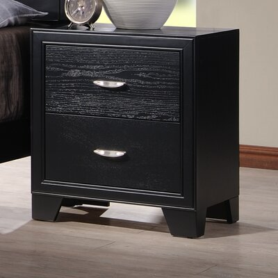 Dravo 2 Drawer Nightstand