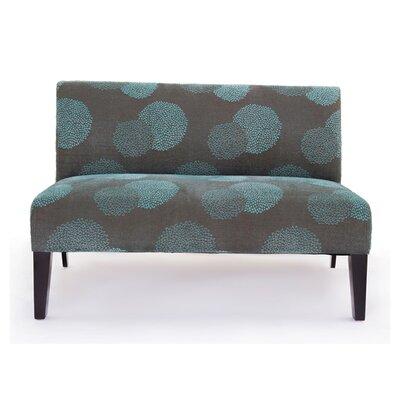 Cullen Sunflower Settee Upholstery: Blue