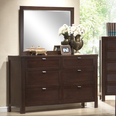 Fabrizia 6 Drawer Dresser with Mirror