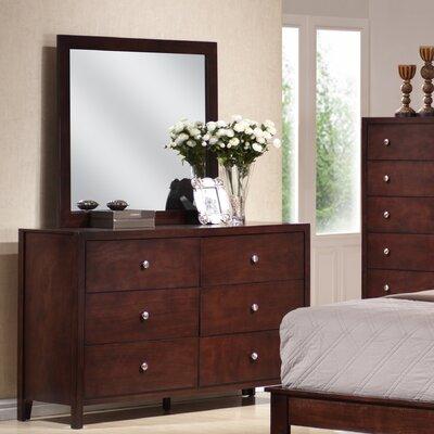 Sarah 6 Drawer Dresser with Mirror
