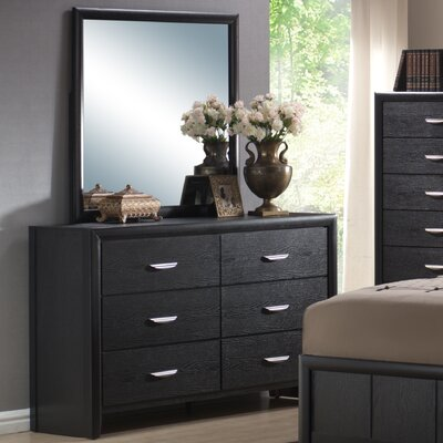 Seger 6 Drawer Dresser with Mirror