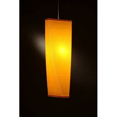 Kalon 1-Light Foyer Pendant Size: 36 H x 8 Dia., Color: Canary Yellow