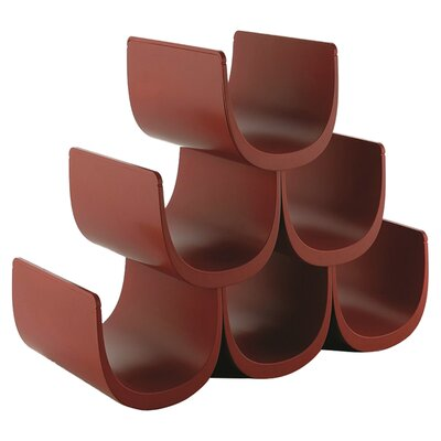Noe 6 Bottle Tabletop Wine Rack Color: Dark Red