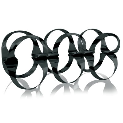 6 Bottle Tabletop Wine Rack Color: Black