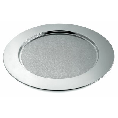 Image of Alessi Alessi Disco Cesellato Decorated Round Tray by Alessandro Mendini (AAS2884)