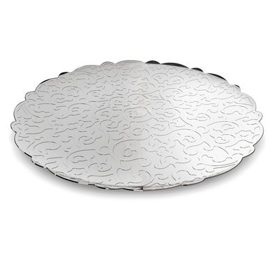 Dressed Round Tray Color-silver