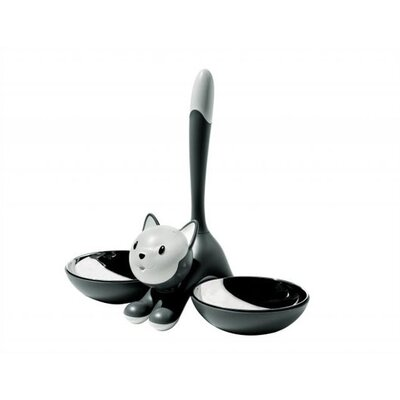 Tigrito Cat Bowl by Miriam Mirri Color: Black