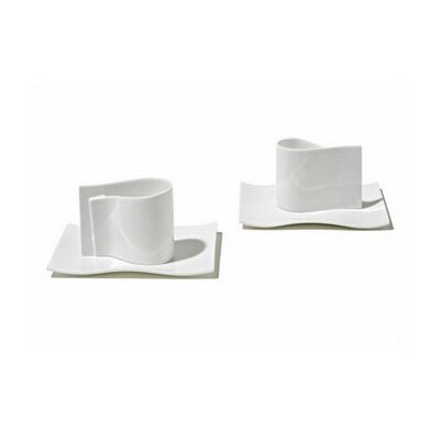 Alessi E-Li-Li  Mocha 4 Piece Cup Set by Massiliano & Doriana Fuksas FM01SET