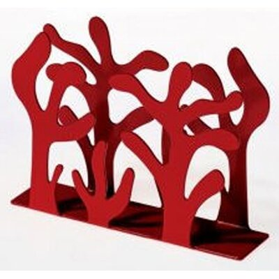 Emma Silvestris Mediterraneo Paper Napkin Holder Finish: Red