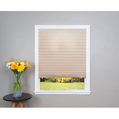 Light Filtering Fabric Pleated Shade Size: 48 W x 72 L, Color: Natural