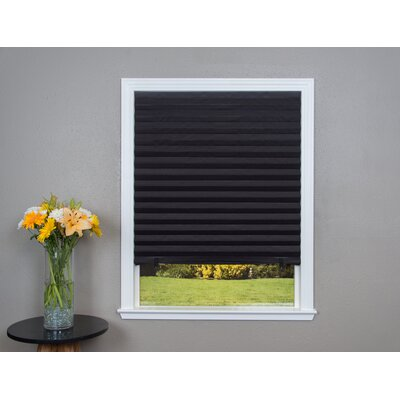 Paper Black Pleated Shade Size: 36 W x 72 L
