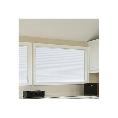Easy Lift Trim-at-Home Cordless Light Filtering Fabric Cellular Shade Size: 36 W x 64 L, Color: White
