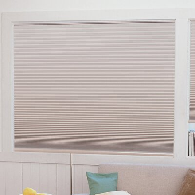 Easy Lift Trim-at-Home Cordless Light Blocking Fabric Pleated Shade Size: 48 W x 64 L, Color: Natural