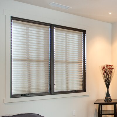 Paper Light Filtering Pleated Shade Size: 36 W x 72 L, Color: Natural