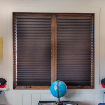 Paper Room Darkening Pleated Shade Size: 36 W x 72 L, Color: Dark Brown