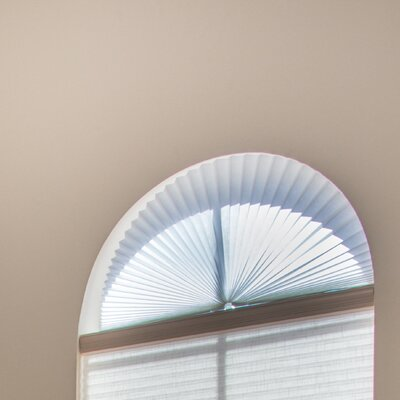Light Filtering Fabric Arch Shade Color: White