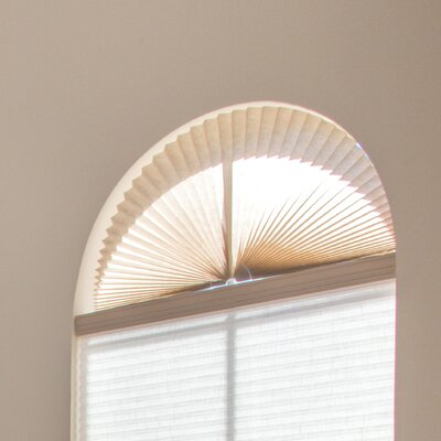 Light Filtering Fabric Arch Shade Color: Natural