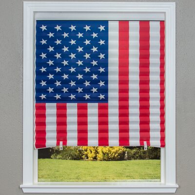 Original Paper American Flag Pleated Shade